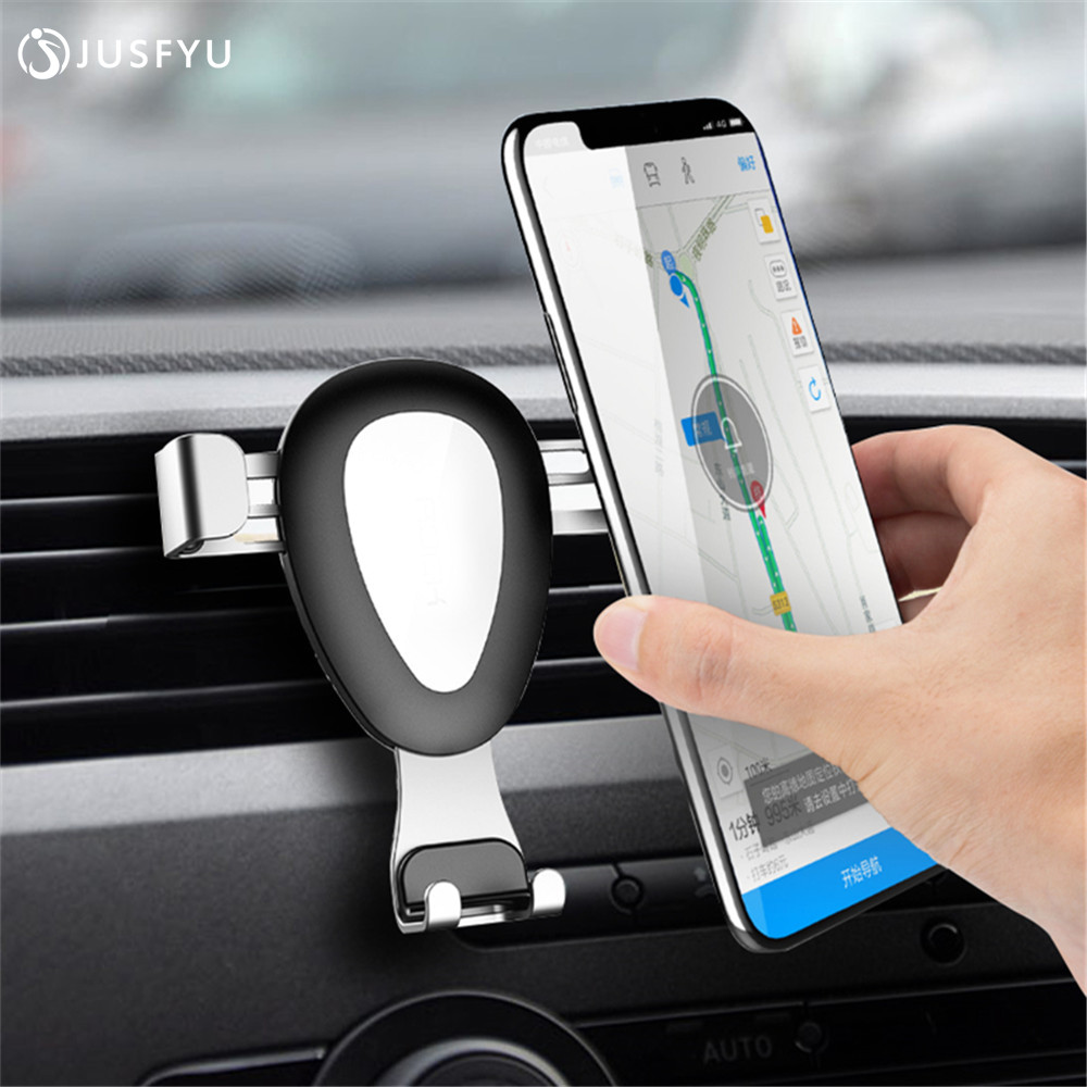 Gravity Car Phone Holder For iPhone 8 X 7 6 Plus Air Vent Outlet Holder For 4 6 No Magnetic Mobile Phone Stand Holder Smartphone in Phone Holders Stands from Cellphones Telecommunications