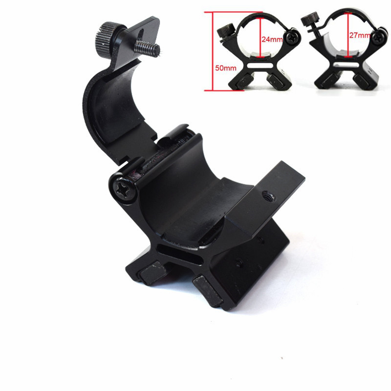 24-27mm Strong Dual X Magnetic Torch Mount Holder Accessories For Gun Tactical Flashlight Clip 21mm tactical flashlight mount clip for helmet rails single clamp rack adaptor mount holder for led flashlight torch clip clamp
