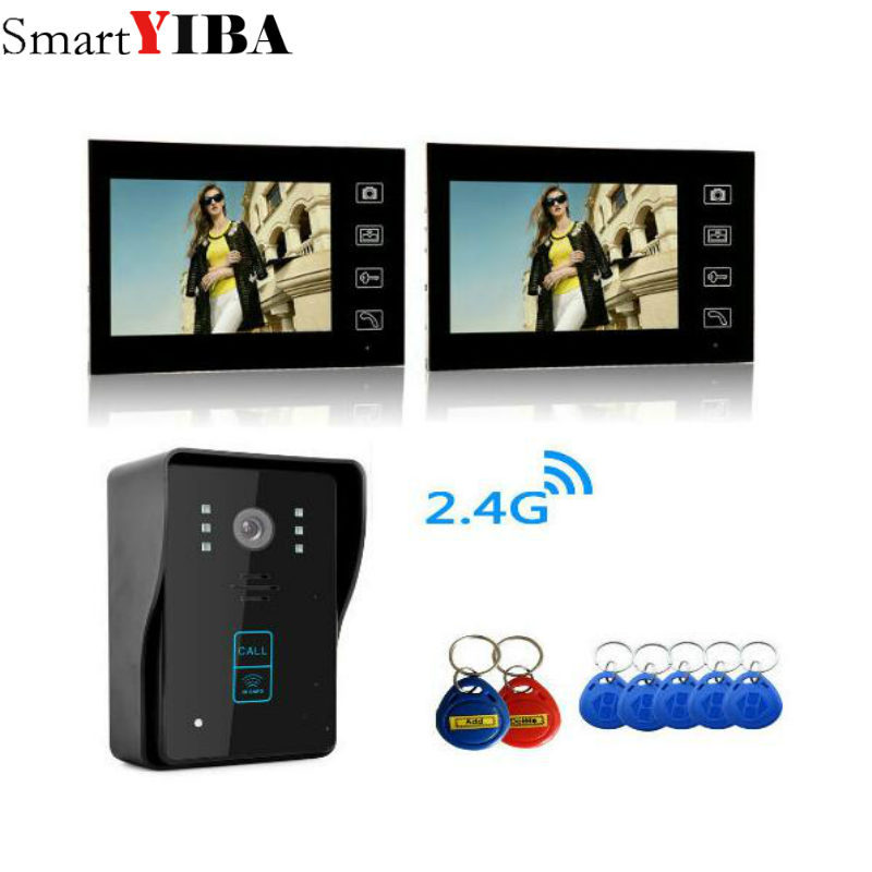 SmartYIBA RFID Card Doorphone Wirelesss Touch Button Door Bell 7