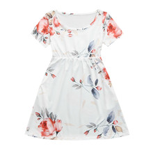 Summer Mother Daughter Matching Floral Dresses