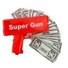 Dinheiro dinheiro arma, um dinheiro chuva dinheiro brinquedo arma, super arma brinquedos 100pcs contas jogo de festa diversão ao ar livre moda presente pistola brinquedos