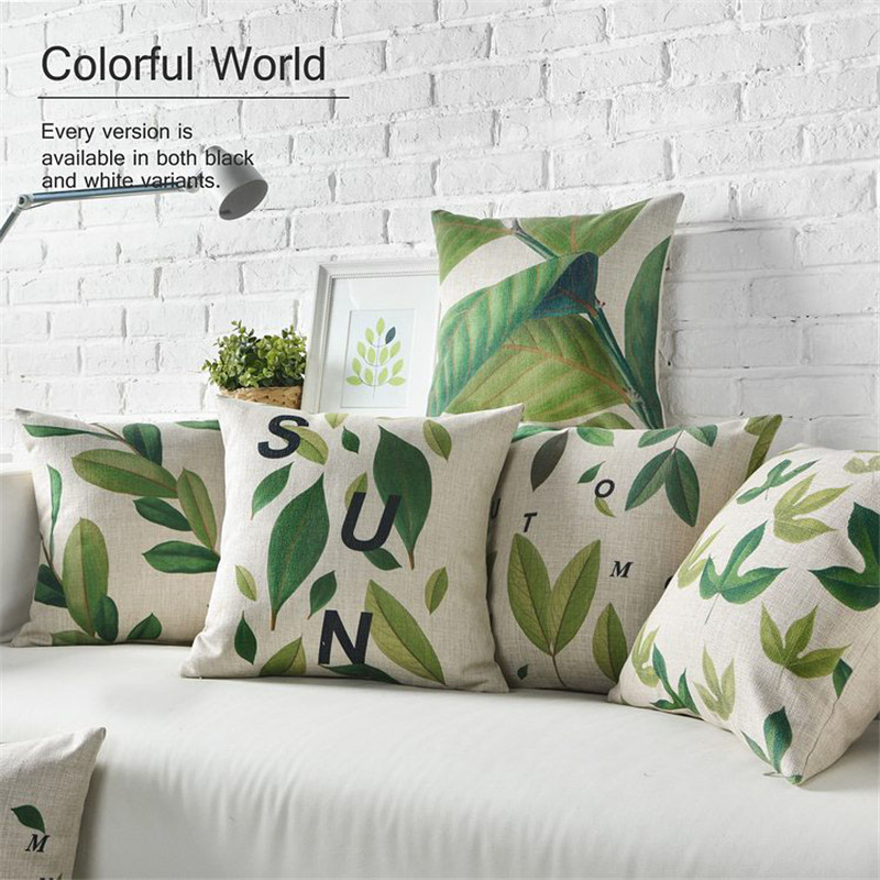 wholesale nordic style pillow cover american country cushion comfortable plant cotton sofa cushions free shipping american country style font