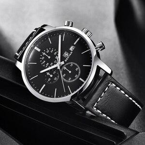 Image 5 - 2019 Yeni BENYAR erkek Saatler Rahat Moda Chronograph/30 M Su Geçirmez/Spor Saatler Erkek Deri Kol Saati Mens reloj Hombre