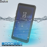 Dulcii Cover voor Samsung Galaxy Note 8 IP68 Shockproof Stofvrije Snowproof Waterdicht Slim Case voor Galaxy Note 8 Shell-zwart