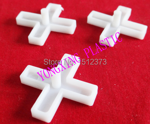 500pcs/bag 8.0mm With Handle Plastic Cross/ Tice Spacer/tracker/locating/ceramic Cross  White Color Locate The Ceramic Tile