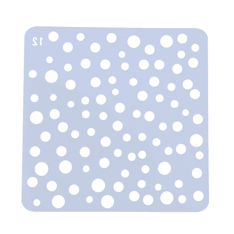 Round Circle Dot Pattern Stencil for DIY Scrapbooking Plastic Spray Drawing Painting Tool Photoalbum Decor Hollow Ruler Template