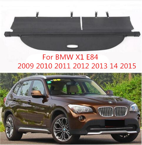 High Qualit Rear Trunk Cargo Cover Security Shield Screen shade For BMW X1 E84 2009 2010 2011 2012 2013 14 2015 BY EMSHigh Qualit Rear Trunk Cargo Cover Security Shield Screen shade For BMW X1 E84 2009 2010 2011 2012 2013 14 2015 BY EMS