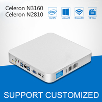 Intel Celeron CPU Mini PC N3160 Quad Cores Mini Desktop Computer With Fanless Windows 10 DDR3