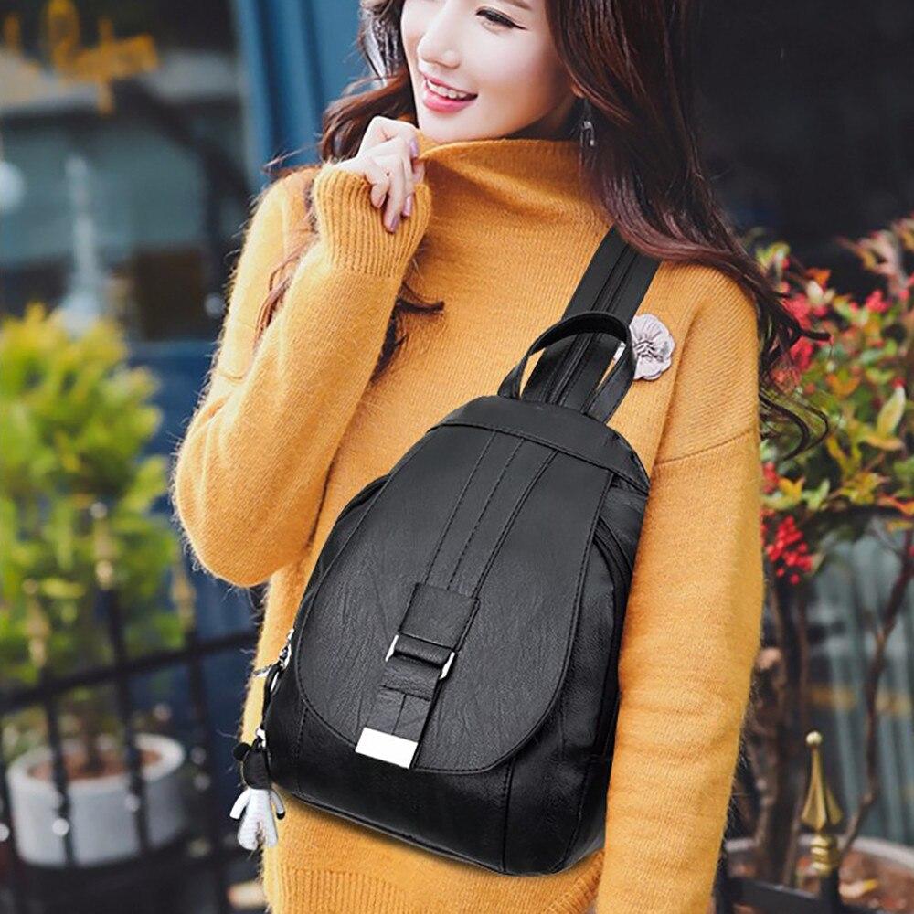 Bags For Women 2019 Vintage Soft Leather School Bags Fashion Small Luxury Backpack Bags Designer 2018 Bolsas Feminina Bolsas