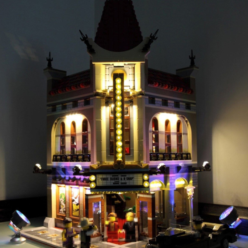 Led Light Set For Lego 10232 Building Blocks City Street Creator Palace Cinema Toy Compatible 15006 Bricks City Street Lighting
