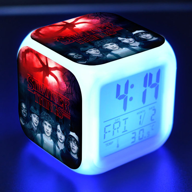 2-Eleven Figure Toys Desk-Watch Touch-Light Stranger Things Alarm Led-Clock Colorful