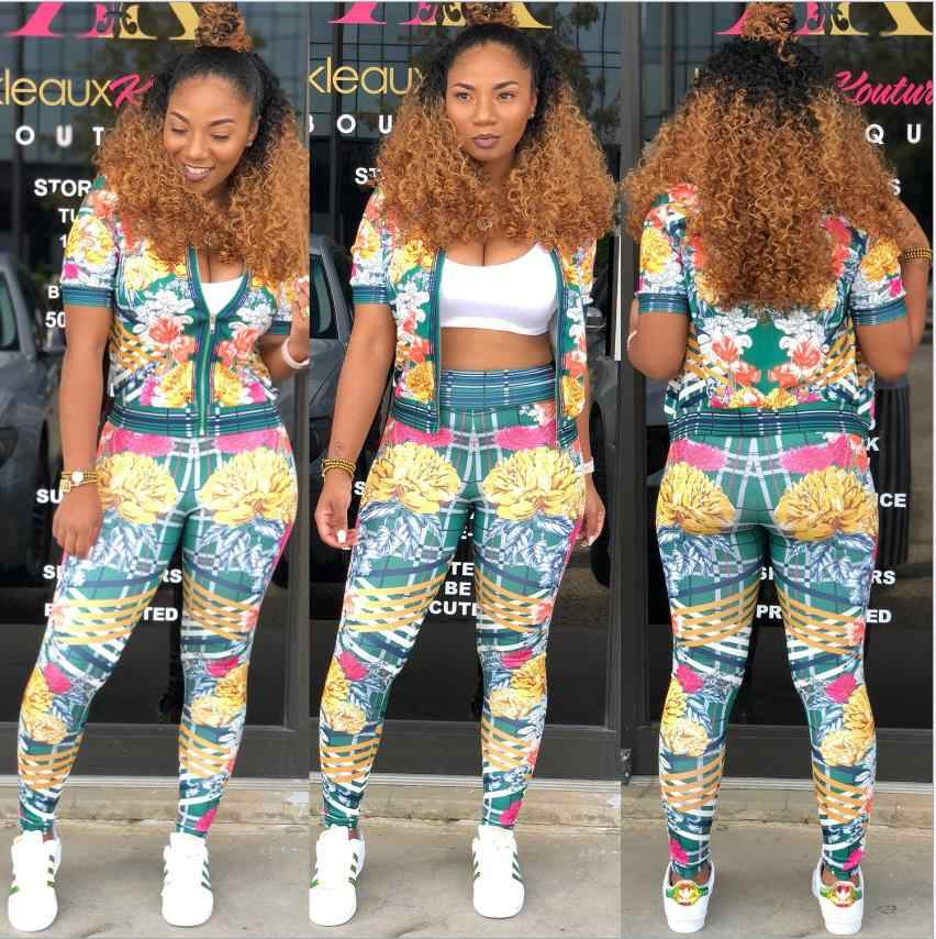 0e59d5ee0 ... African Print Dresses For Women Dashiki Traditional African Two Piece  Set Print Tracksuit Bazin Tops Pants ...