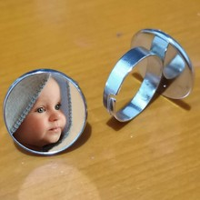 Personalized photo custom ring, photo your baby child mom dad grandparents like gift family member gift(China)