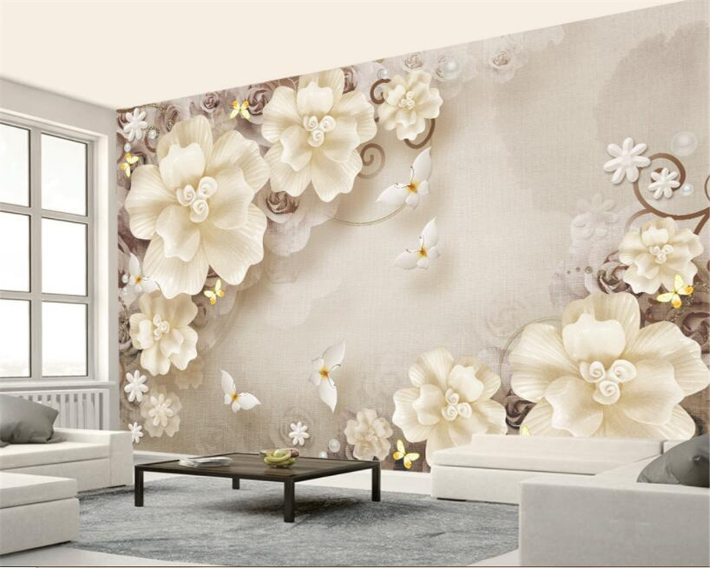 Home Improvement Punctual Custom 3d Photo Murlas Wallpaper For Wall Large Murals Fashion Fantasy Beautiful White Roses Simple Sofa Bedside Background Wall For Fast Shipping Wallpapers