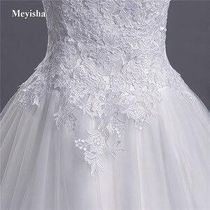 Image 5 - ZJ9041 2018 koronki paski spaghetti białe kości słoniowej moda seksowne suknie ślubne dla panny młodej maxi plus size rozmiar 2 26W pociągu