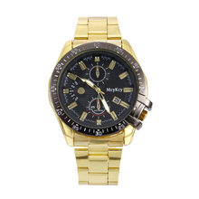 9d39103ea37 Relogio masculino Marca Top de Luxo Relógios de Ouro Homens de aço  Inoxidável Relógios Desportivos Calendário de Moda de Quartzo.