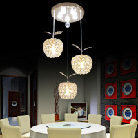 High Quality Modern Minimalist Fruit 110v 220v Crystal Pendant Lamp E14 Home Lighting Living Room 3