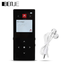 BENJIE K8 Bluetooth Mp3 player Touch Screen Ultra thin 8GB Music Player 1.8 Inch Color Screen Lossless HiFi Sound with FM Radio