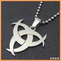 Joyería de moda Semi-Círculo de la Luna Colgante de Acero Inoxidable 316L Collares Tres Semicírculos Collares Para Hombre 10597
