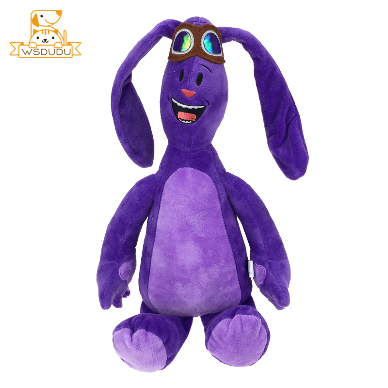 Mim-Mim Purple Rabbits Cartoon Dolls Bunny Cute Mim Mim Glasses Long Ears Animals Kawaii Plush Stuffed Toys Soft Pillow Kid Gift