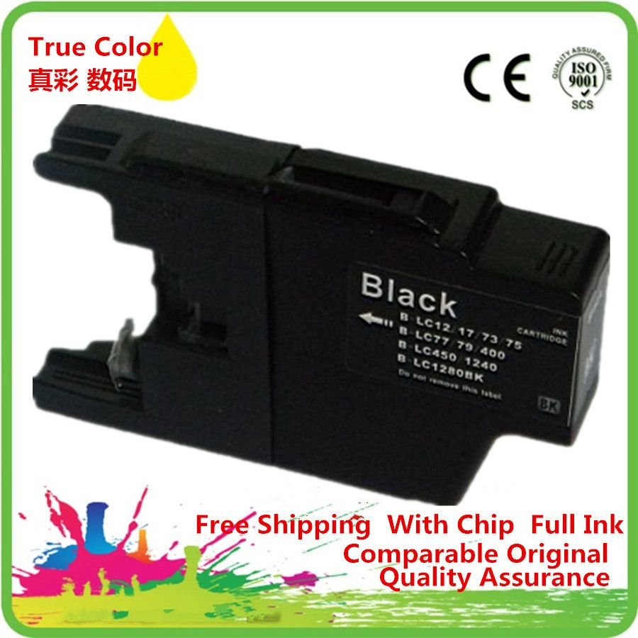 Replacement Black LC17 LC77 LC79 LC450 <font><b>LC1280</b></font> Ink Cartridges For MFC-J5910CDW MFC-J825N MFC-J955DN MFC-J955DWN image