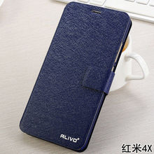 ALIVO Brand for xiaomi redmi 4x 4a Case Cover Flip PU Leather Stand Case For xiaomi redmi 4x 4a Book Style Cell Phone Bag