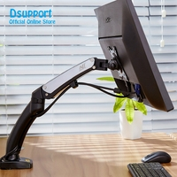NB F100 360 Degree Gas Spring 17 27 Monitor Holder Arm Desktop Clamping Or Grommet With 2 USB interface