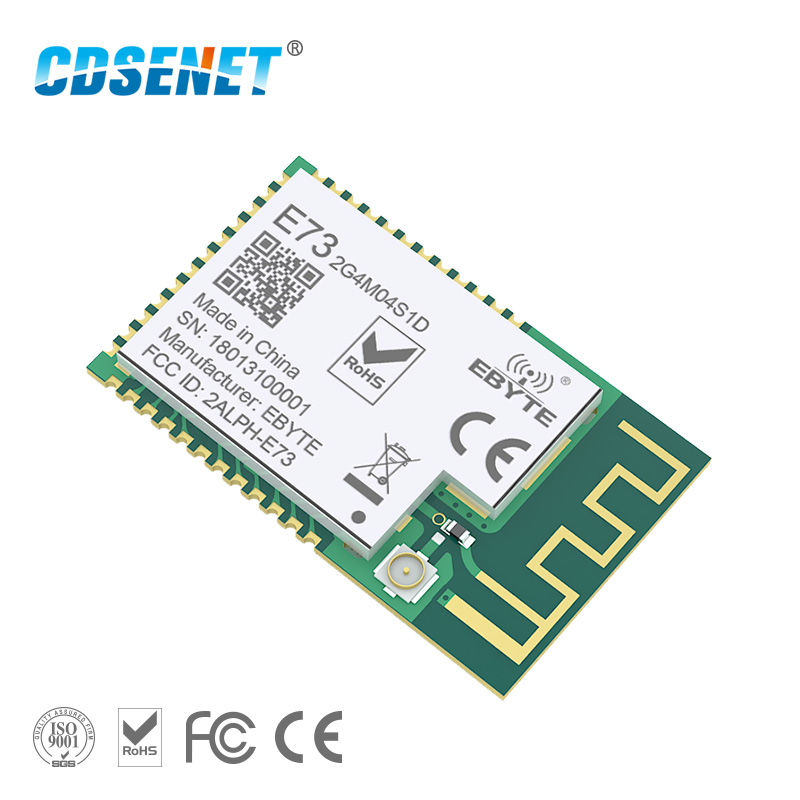 NRF51822 Ble 4.2 Low Power Wireless Module PCB IPX Antenna Interface CDSENET E73-2G4M04S1D 4dBm Bluetooth Transmitter Receiver