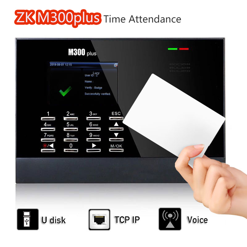 30,000 Users ZK M300Plus Time Attendance terminal RFID reader Biometric Time Attendance System with Linux System free shipping xm218 webserver biometric fingerprint time attendance with rfidcard reader linux system employee attendance system