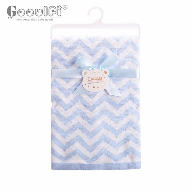 Gooulfi soft kids cotton baby boy girl blankets newborn swaddle baby bath wrap cotton winter crochet blanket