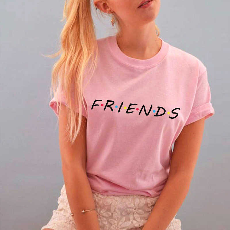 3321484aa4e ... Friends Tv Show T-Shirt Letter Printing Aesthetic Clothing Women s  Graphic Tees Tumblr Popular Summer ...
