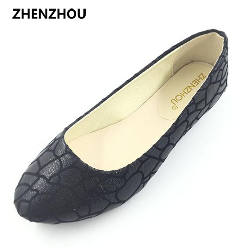 2016 new fashion tide crack leisure flat with shallow mouth women s singles shoes flat shoes