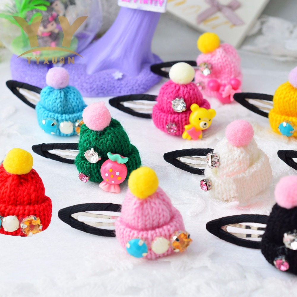YYXUAN Felt animal Snap Clip kids girls Hair Clip Toddlers barrette Fine flower cartoon Hairpins hair accessories P5 6pcs lot kids glitter color hair snap clip kids stars headwear five pointed stars hairpins hair accessories