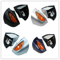 Motorcycle Pair Rear View Mirrors Amber Turn Signal For BMW R1100 RT R1100 RTP R1150 RT