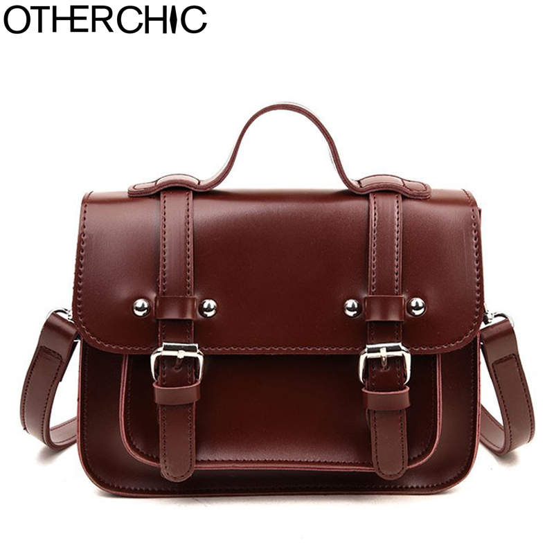 OTHERCHIC Vintage Oil Wax Leather Saddle Bags Women Messenger Bags Small Tote Brand Shoulder Bags Women Crossbody Bag 8N03-07 seven skin brand women oil wax leather shoulder bags vintage designer handbags female big tote bag women s messenger bags 2017