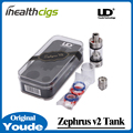 100% Original Youde Zephyrus V2 Tank Rebuildeable Head Airflow Design 6.0ml with RBA Coil Head