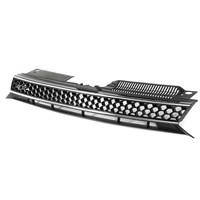 New Black Silver Car Grill Front Bumper Trim Mesh Grill Grille For VW Jetta GTI Golf MK6 2010 2014
