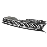 New Black Silver Car Grill Front Bumper Trim Mesh Grill Grille For VW Jetta GTI Golf
