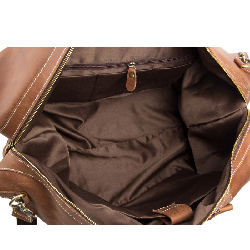 rockcow vintage look retro genuíno Leather Travel Volume : Can Hold 17 Laptop
