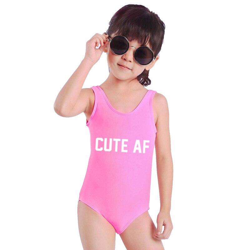 Baby Girls Letter Sexy Monokini Swimwear One Piece Swimsuit CUTE AF Bodysuit  Child Bathing Suit 72e819274