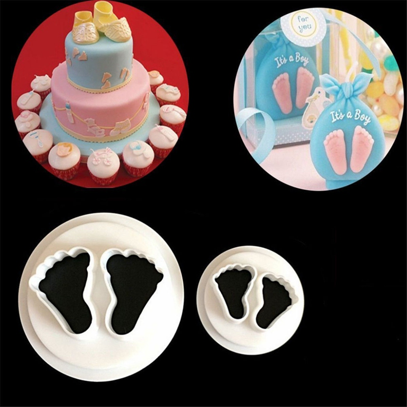 Cake Molds Inventive Baby Set Silicone Cake Mold Fondant Feet Mold Cake Decoration Footprint Handprint Baking Moulds For Bakeware Durable In Use Home & Garden