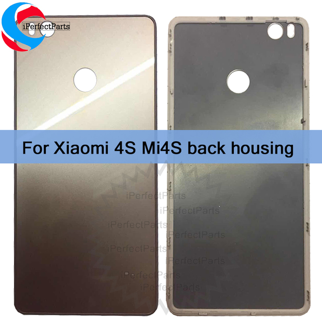 New Rear Housing For Xiaomi 4s Mi4s Back Battery Door Glass Housing