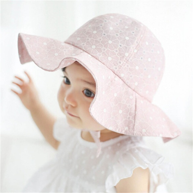 ac59d337f86 Daddy Chen New Flower Print Cotton Cute Princess Summer Hat Kids Girls  Floral Outdoor Breathable Bucket Hats Child Beach Sunhat