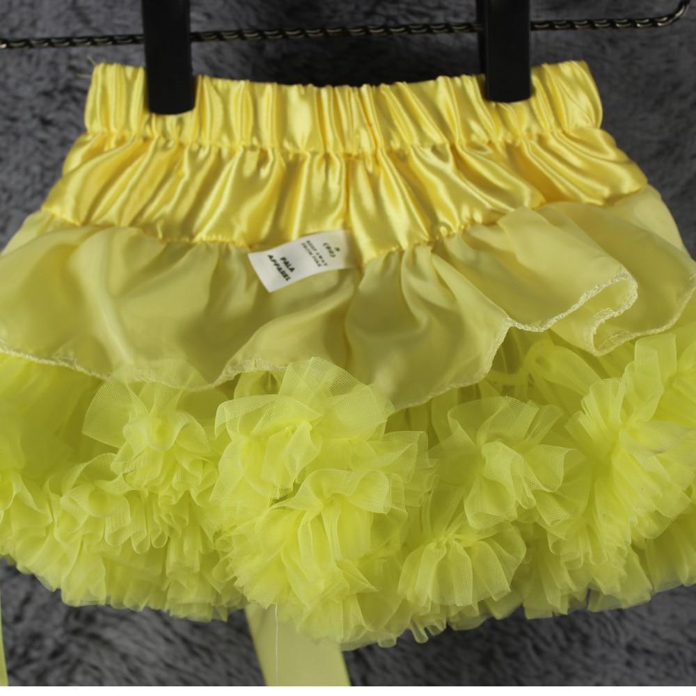 Светло-желтая юбка-пачка для малышей, Мини-юбка Для Девочек Пышные пачки Детские реквизит для фотографий летняя одежда для девочек много цветов
