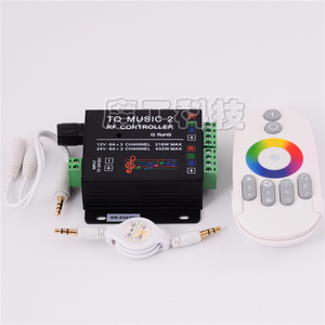 Image 1 - Commande Audio avec télécommande sans fil RF, musique pour bande LED LED de contrôle, 5050, 3528, 5630, 2 canaux RGB, DC 12 24V 18A