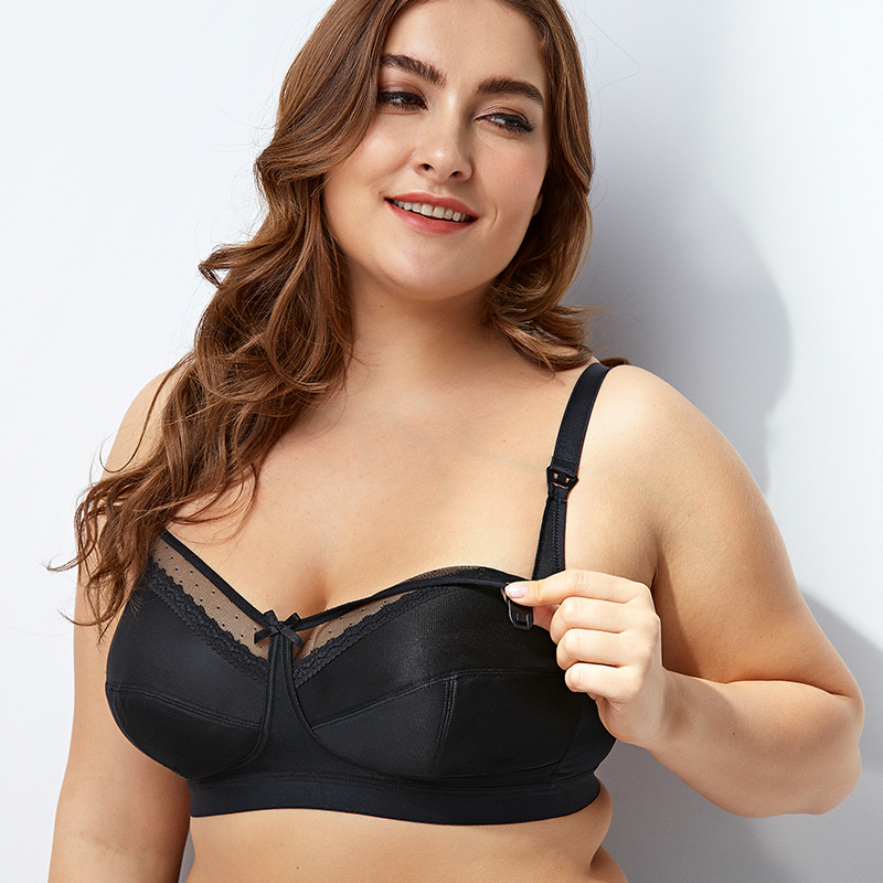 Image 3 - Gratlin Women's Comfort Maternity Non Padded Wirefree Lace Trim Nursing Bra-in Maternity & Nursing Bras from Mother & Kids