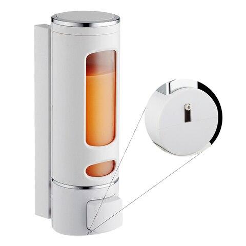 Dispensador de Sabão Suporte de Montagem Manual na Parede para Banheiro Dispensador de Líquidos Recipiente de Loção para Lavar Manual de 400ml Sabonete Shampoo