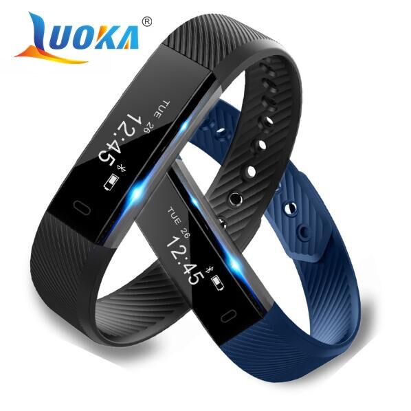 imágenes para ID115 Android Bluetooth Pulsera Inteligente Podómetro Contador de Paso de Banda Inteligente Sleep Monitor de Rastreador de Ejercicios Del Deporte Pulsera De Teléfono