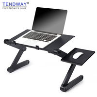 Tendway Portable Foldable Laptop Stand Adjustable Laptop Desk Ergonomic TV Bed Laptop Tray PC Notebook Table Desk Stand For Sofa