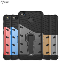 Uftemr Case For Xiaomi Redmi 4X Cover Shockproof Armor Luxury Silicon PC Hard Back Cover Case